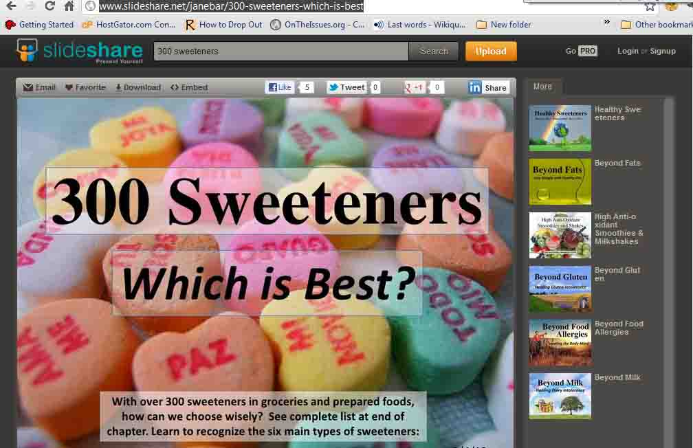 Jane Barthelemy: 300 Sweeteners, Which is Best?