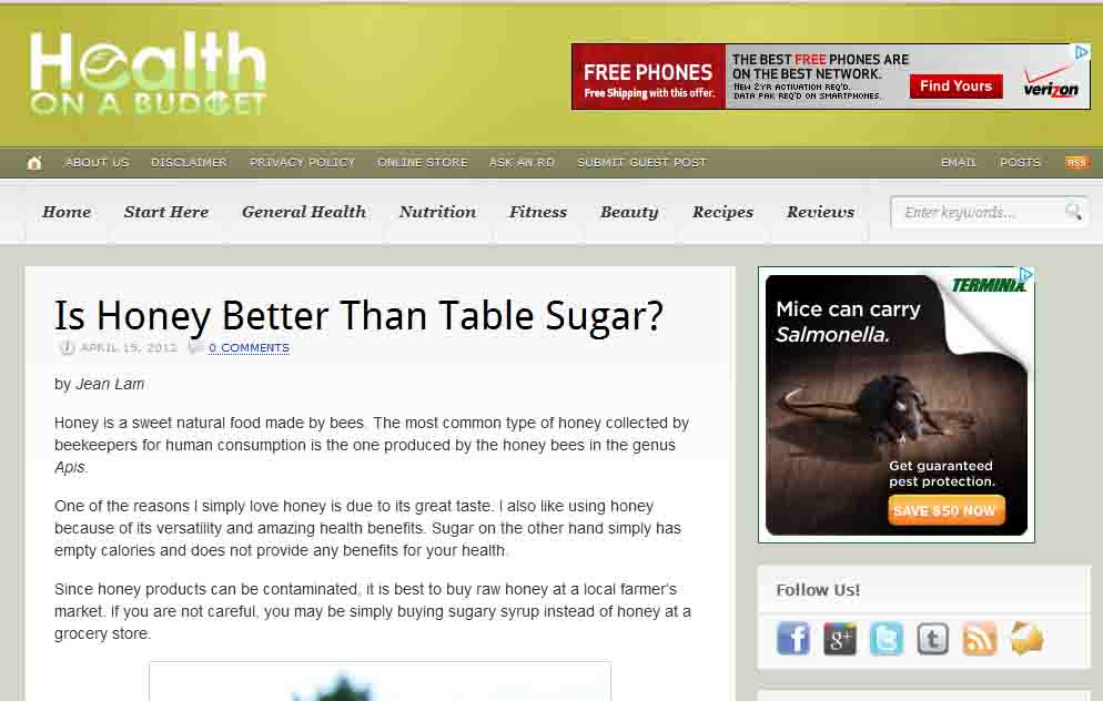 Health on a Budget: Is Honey Better Than Table Sugar?