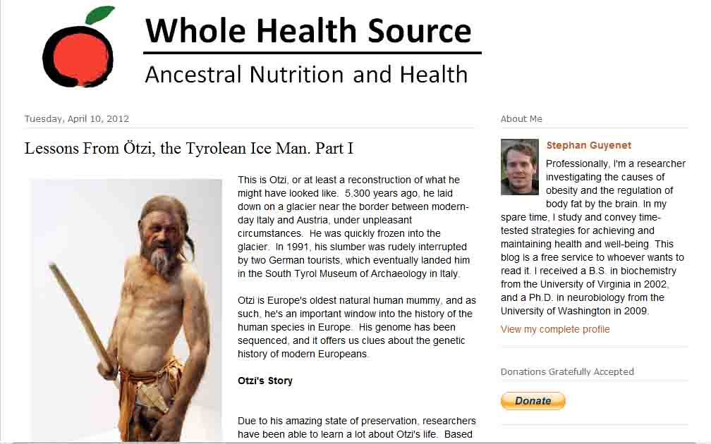 Whole Health Source: Lessons from Ötzi, the Tyrolean Ice Man